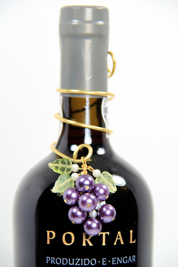 wine bottle decorations handmade wine bottle decoration custom beaded pearl grapes by 4674