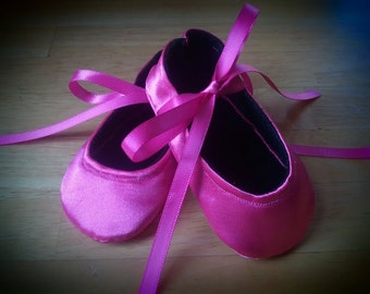 Pink Ballet Crib Shoes