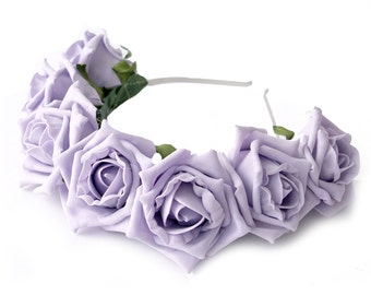 Whole Lotta Rosie Headband - Lilac
