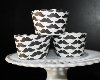 Mustache Cupcake Wrappers