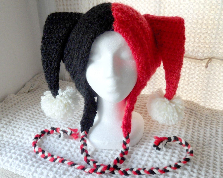 Free Crochet Joker Hat Pattern : Harley Quinn Jester Hat