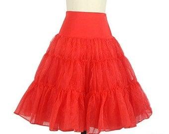 Red Petticoat Underskirt Big Volume