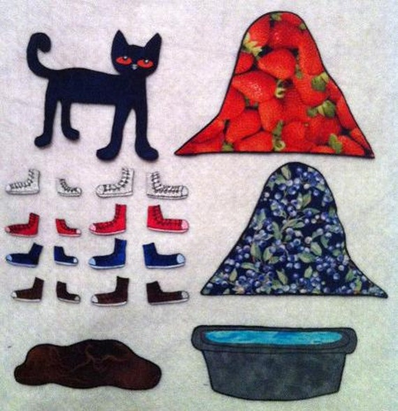 Pete The Cat I Love My White Shoes Felt Board