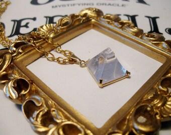 Quartz Pyramid Pendant Necklace