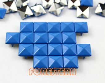 50Pcs 10mm Sky Blue Color PYRAMID Studs (CP-5015-10)