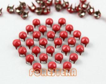 200Pcs 5mm Rose Red CONE Studs Metal Studs (CC-3017-05)