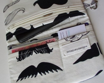 Mustache cell phone clutch