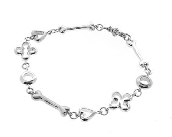 sterling Silver Luck, Love, Life & Infinity Bracelet, Valentines day