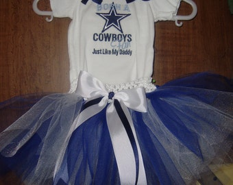 Dallas Cowboy Tutu set Embroidered shirt