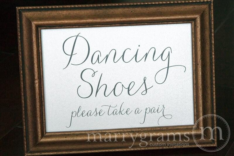 Dancing Shoes Wedding Sign Flip Flops Basket Sign Wedding