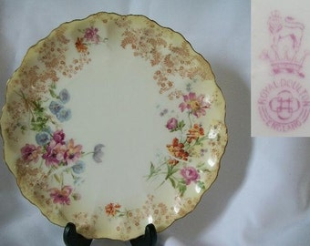 1902 Antique DOULTON BURSTEN Collectible Shelf Plate/Free Shipping