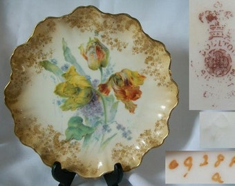 1887 Antique DOULTON BURSTEN Collectible Shelf Plate/Free Shipping