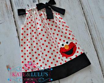 Elmo Birthday dress - Elmo Dress - Girls Birthday Dress