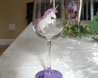 Flamingo Hand Painted Wine Glasses By Glassesbyjoanne On Etsy