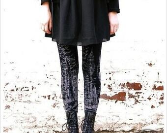 Redwood Forest Leggings - Womens Legging - BLACK - Tights - tree tights
