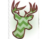 Applique Deer Head Buck Silhouette Machine Embroidery Design - 5 Sizes