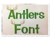 Antlers Alphabet Machine Embroidery Font Alphabet - 3 Sizes