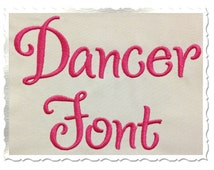 Dancer Machine Embroidery Font Monogram Alphabet - 3 Sizes