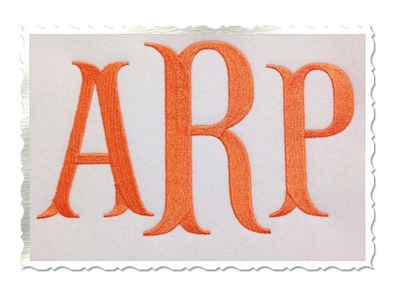 large fish tail machine embroidery font by rivermillembroidery