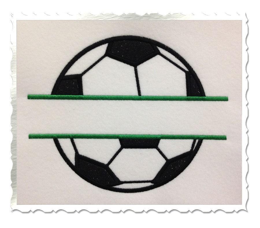 Split Football Embroidery Design