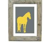 Horse print, modern wall decor, horse silhouette, modern horse, modern wall decor
