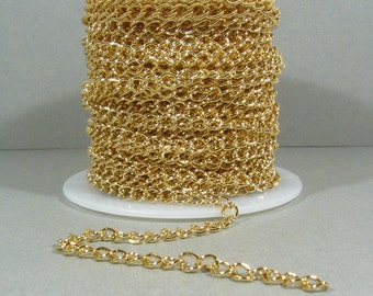 Small Curb Chain - Gold Plated - CH6 - Choose Your Length