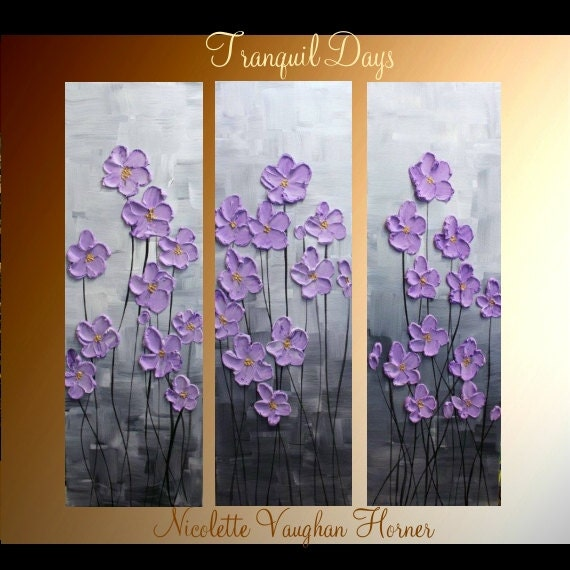 Original 3 panel deep gallery canvas abstract modern for 3 panel painting