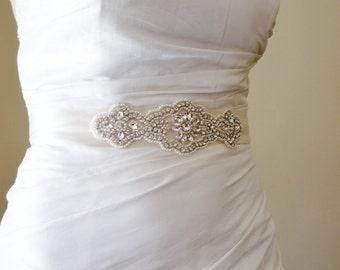 Sash Crystal Pearl Bridal Wedding Accessories