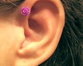 No Piercing Tiny Rose Magnetic Cartilage Earring 1 Earring - Not a Pair