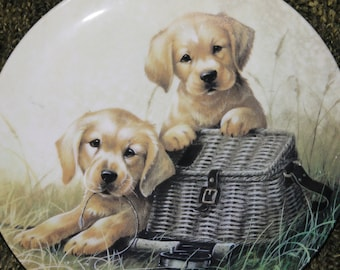 "Gone Fishin'"" by Lynn Kaatz First Issue in the Field Trips plate collection by The Edwin M. Knowles China Company"