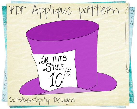 alice in wonderland mad hatter hat template free