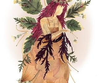 "Flower Fairy Giclee Print - ""Fairy of Peace""  8 x 10 Fine Art Fantasy Design"