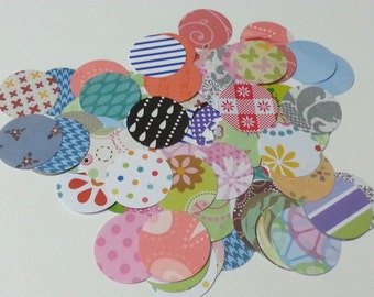1 1/2 Inch Circles, Scrapbooking Circles, Die Cut Circles, Party Mix Circles, Scrapbook Circles, 1.5 inch circles, Pretty Circle  Papers
