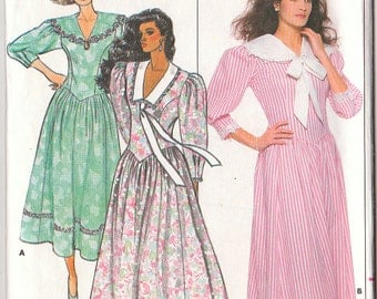 Butterick 4714 Sewing Pattern Womens Dress Size 6-8-10 Vintage