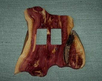 Red Cedar Double Rocker Switch Plate Cover