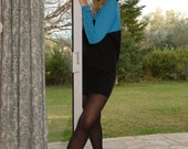 Very Sexy Short Dress, Black, Blue, Size S to M, Worldwide Shipping