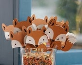 Fox Cupcake Toppers, Baby Shower, Birthday, Room Decor, Banner, Garland