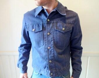 Vintage Soft Denim Button Up Shirt 1970s