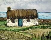 Irish Cottage Print