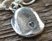 Personalized Fingerprint Pendant - Fine Silver Pendant Or Token
