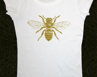 Bee 1 Shirt - Women's Short Sleeve Scoop Neck Cotton T-Shirt Contoured Fit