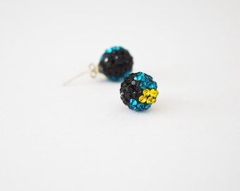 Bahamas Flag Stud Earrings