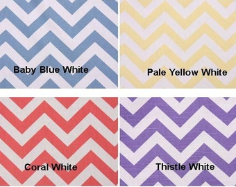 """25"""" Wide Curtain Panels 84"""" 96 108 120 NEW COLORS Zig Zag Chevron Baby Blue Pale Yellow Coral Thistle White Drapes"""