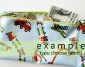 Boys Give Spend Save trifold wallet in designer laminated cotton | 3 sections | your choice of fabric