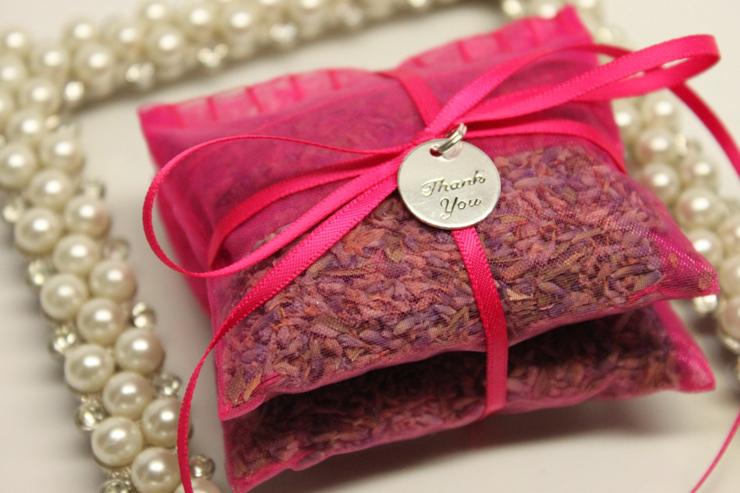 French Wedding Gifts: 20 Pink Wedding Favors French Lavender Sachets In Sheer