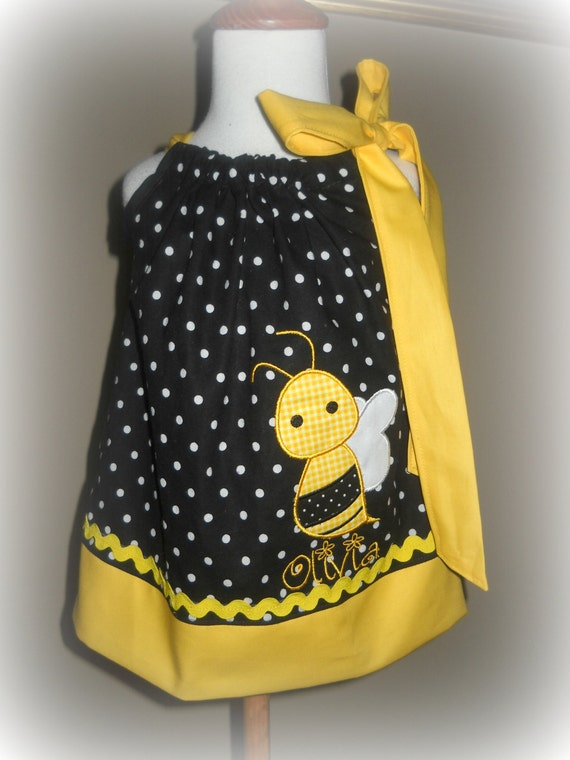 Bumble Bee Pillowcase Dress - Bumble Bee Dress