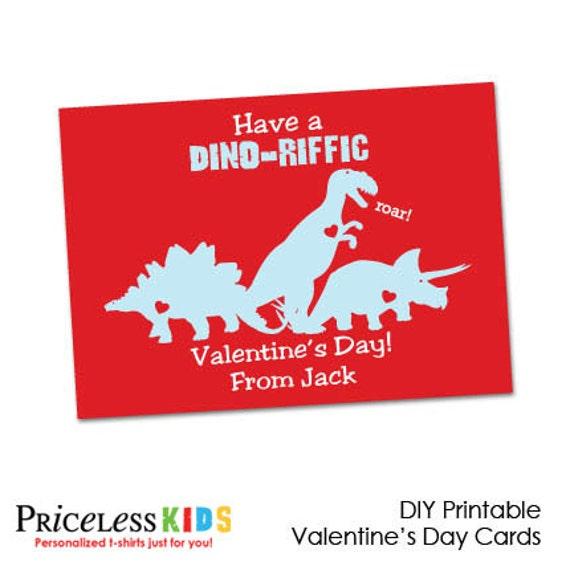Printable Dinosaur Valentine Cards Kids Dinosaur Valentines