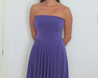 Corset Dress Strapless Summer dress Bustier Dress Skater Fit & Flare Dress Bandeau Summer Dress Boho Full Circle skirt Dress Made to order)
