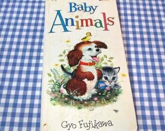 baby animals, vintage 1975 children's book