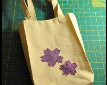 Tote Bag - PDF Sewing Pattern - Book Bag, Sakura, Cherry Blossom, Handbag, Grocery Bag, Shopping Bag